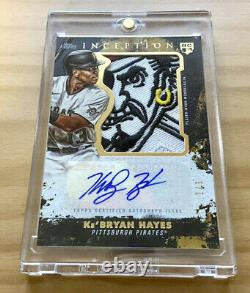 1/1 KeBryan Hayes 2021 TOPPS Inception Rookie Patch Auto KeBryan Autograph