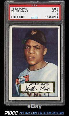 1952 Topps Willie Mays #261 PSA 9 MINT (PWCC)