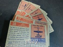 1952 Topps Wings Friend or Foe Airplane Trading Cards Lot of 93 Non Sports