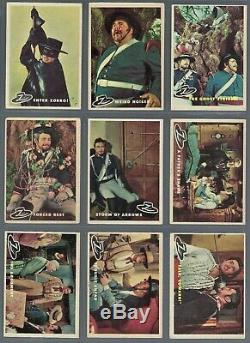 1958 Topps Zorro Complete Trading Card Set of 88 Cards Mid Grade