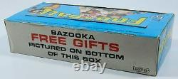 1968 Topps Football Five Cent Trading Cards Display Box with Johnny Unitas Colts