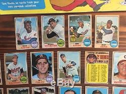 1968 Topps Milton Bradley Win A Card Game 25 Yellow Variation Cards HOF RARE