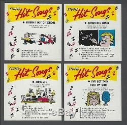 1968 Topps Phoney Records Stupid Hit Songs Trading Cards Complete Set of 16