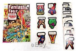 1975 Marvel Comic Book Heroes Trading Sticker Set 40 Cards Topps (TC-1887)