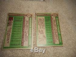 1976 Topps Baseball Cards Complete Set 660 Ex Condition Rookie Dennis Eckersley