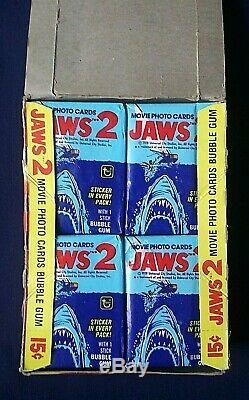 1978 Topps Jaws 2 Movie Photo Trading Cards Box 36 Sealed Wax Packs
