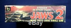1978 Topps Jaws 2 Movie Photo Trading Cards Box 36 Sealed Wax Packs Great Gift