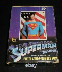 1978 Topps Superman The Movie Trading Cards Unopened Full Wax Box 36 Packs NOS