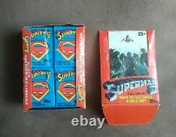 1980 Topps Superman II Movie Full Color Trading Cards Box 36 Sealed Wax Packs