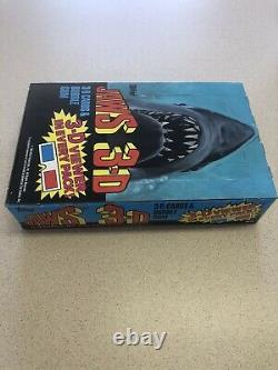 1983 Topps Jaws 3D Movie Trading Cards 36 Packs Unopened Unmarked Box NEW