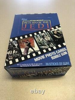 1983 Topps Star Wars Return of the Jedi Series 1 Box 36 Packs Trading Cards