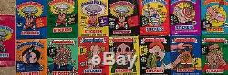 1985-88 Garbage Pail Kids 15-Unopened Wax Pack Lot 1st-15th Series, UK OS1, TWT