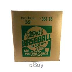 1985 Topps Baseball Wax Box Case (20 Box) Sealed Possible McGwire/Clemens RC's
