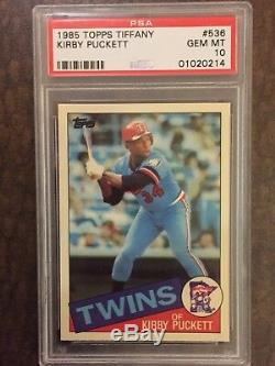 1985 Topps TIFFANY Kirby Puckett PSA 10 Better than 1984 Fleer or 1985 Leaf