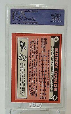 1986 Topps Traded BARRY BONDS Rookie Card RC #11T PSA 10 Gem Mint Pirates/Giants