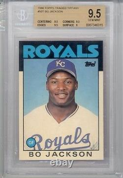 1986 Topps Traded Tiffany Bo Jackson (Rookie Card) (#50T) BGS9.5 BGS (No Offers)