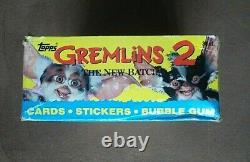 1990 Topps Gremlins 2 Movie Trading Card Box (36 Sealed Wax Packs) & Ad Poster