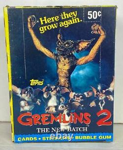 1990 Topps Gremlins 2 Movie Vintage FULL 36 Pack Trading Card Wax Box