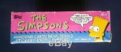 1990 Topps The Simpsons Trading Cards Box 36 Sealed Wax Packs