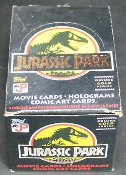 1992 Jurassic Park Deluxe Gold Series Trading Card Box by Topps New