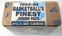 1993-94 Topps Finest Basketball Factory Sealed Jumbo 2 Box Case Bbce Authentic