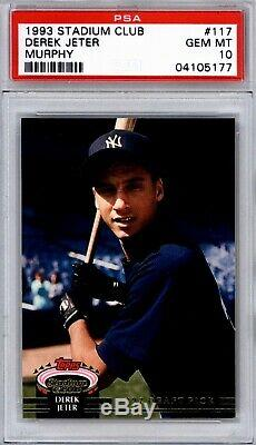 1993 DEREK JETER Stadium Club Murphy #117 Rookie Card PSA 10