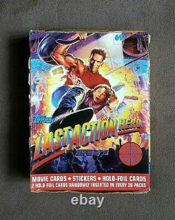 1993 Topps Last Action Hero Movie Trading Cards Box 36 Sealed Cello Packs
