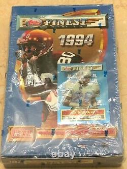 1994 TOPPS FINEST Football Series 1 NFL HOBBY BOX Trading Cards 24 Packs SEALED