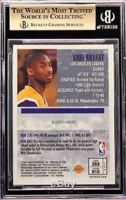 1996-97 Kobe Bryant Topps Finest Gold Atomic Refractor RC Rookie BGS 9.5 with Peel