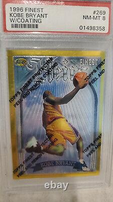 1996-97 Kobe Bryant Topps Finest Heirs Gold #269 PSA 8 with Coating Rookie RC