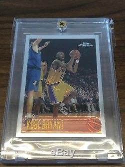 1996-97 TOPPS CHROME KOBE BRYANT ROOKIE CARD #138 LAKERS HOF RC MINT/GEM Sharp