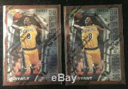 1996-97 Topps Finest #74 KOBE BRYANT L. A. Lakers Apprentices RC Rookie 2x Lot 74