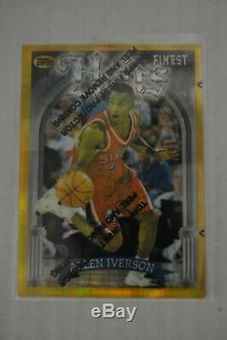 1996-97 Topps Finest Gold REFRACTOR Allen Iverson RC 76ers Hoyas RARE