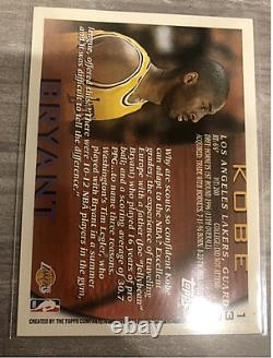 1996 Kobe Bryant Topps #138 Lakers RC Rookie Card