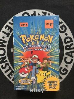 1999 Pokemon Topps Trading Cards Booster Box Set 2348 NEW Sealed 11 packs