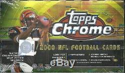 2000 Topps Chrome Factory Sealed Football Hobby Box Brian Urlacher RC ROOKIE