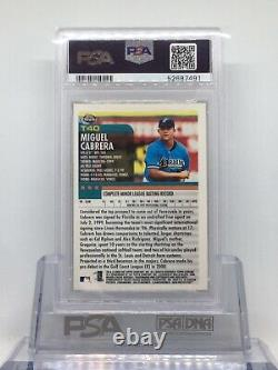 2000 Topps Chrome Traded Miguel Cabrera Rookie Card RC #T40 PSA 8 NM-MT