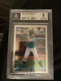 2000 Topps Traded Chrome Miguel Cabrera Rookie Card Bgs Mint 9