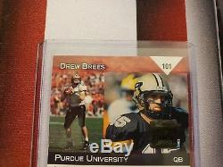 2001 Drew Brees ROOKIE Auto Topps Debut ON CARD Autograph Short Print of /499