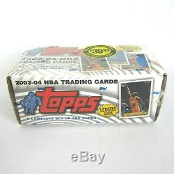 2003-04 Topps Basketball NBA Trading Cards Complete Factory Sealed Set NEW NOS