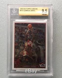 2003-04 Topps Chrome #111 LeBron James Cavaliers RC Rookie BGS 9.5 Psa 10 Lakers
