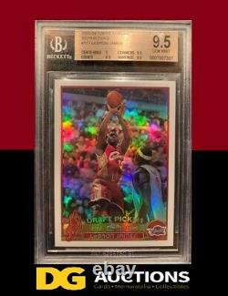 2003-04 Topps Chrome Lebron James Refractor Rookie BGS 9.5 RC #111 2003