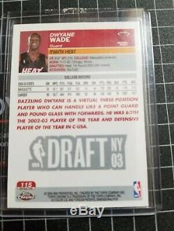 2003-04 Topps Chrome Rc Refractor Dwyane Wade #115 mint condition