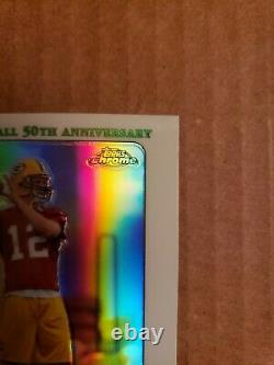 2005 Topps Chrome Aaron Rodgers Green Bay Packers Rookie Refractor #190 MVP