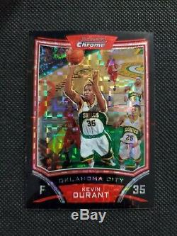 2008-09 Kevin Durant Bowman Chrome Xfractor Sp Parallel #172/299! Rare Refractor