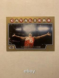 2008-09 Topps Gold #23 LeBron James Cleveland Cavaliers #/2008 LAKERS HEAT SP
