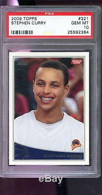 2009-10 Topps #321 Stephen Curry Steph Stef ROOKIE PSA 10 Graded Basketball Card