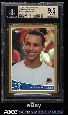 2009 Topps Chrome Gold Refractor Stephen Curry Rookie Rc 50