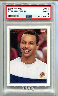 2009 Topps Stephen Curry RC #321 PSA 9 MINT Warriors