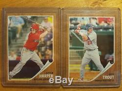 2011 Topps Heritage Mlb Baseball Minors Set Mike Trout Bryce Harper 1-200 Rookie